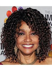 Classic Medium Curly Sepia African American Lace Wigs for Women