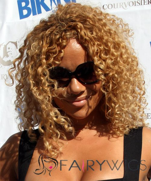 Ancient Medium Curly Blonde African American Lace Wigs for Women