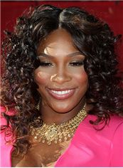 Dream Medium Curly Brown African American Lace Wigs for Women