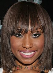 Fabulous Short Straight Brown African American Wigs for Women