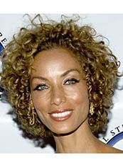 Up-to-date Short Curly Brown African American Lace Wigs for Women 12