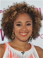 Prevailing Short Curly Brown African American Lace Wigs for Women