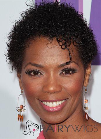 Virgin Brazilian Hair Black Short Fantastic Wigs for Black Women 6 Inch