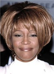 Capless Short Straight Brown African American Wigs for Women