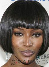 Top Quality Short Straight Black African American Wigs for Women