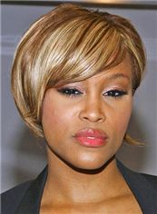 Custom Super Charming Short 10 Inch Straight Blonde African American