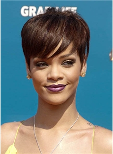 Outstanding Short Straight Brown African American Wigs for Women 6