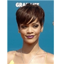 Outstanding Short Straight Brown African American Wigs for Women 6 Inch