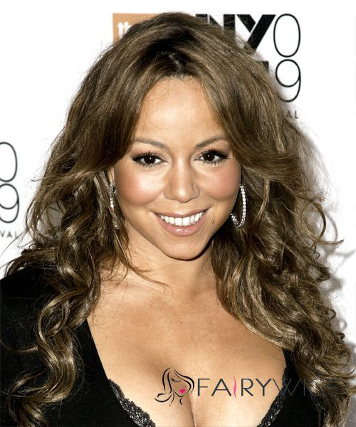 Online Wigs Long Wavy Brown African American Lace Wigs for Women