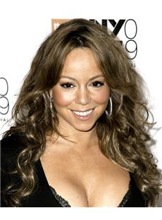 Online Wigs Long Wavy Brown African American Lace Wigs for Women