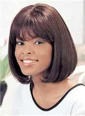 Ancient Short Wavy Sepia Full Bang African American Wigs for Women 12