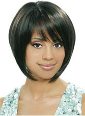Afro American Wigs Short Straight Black African American Wigs for