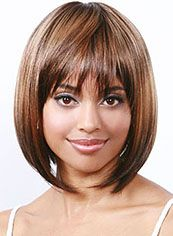 Wigs For Sale Short Straight Blonde Full Bang African American Wigs