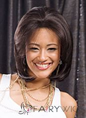 Soft Short Wavy Brown No Bang African American Lace Wigs for Women 12 Inch