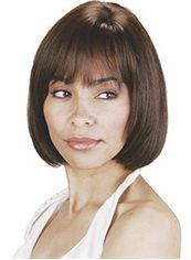 Afro American Wigs Short Straight Brown African American Wigs for Women 12 Inch