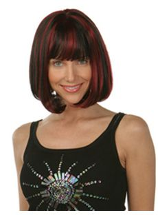 Top Quality Short Wavy Brown Full Bang African American Wigs for