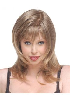 Online Medium Wavy Blonde Side Bang African American Lace Wigs for
