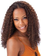 Wonderful Medium Curly Brown No Bang African American Lace Wigs for