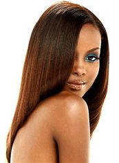 Amazing Medium Straight Brown No Bang African American Lace Wigs for