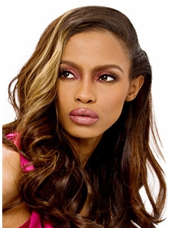 100% Human Hair Brown Medium Stunning Wigs for Black Women 18 Inch