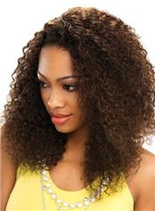Online Medium Curly Brown No Bang African American Lace Wigs for