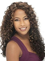Prevailing Long Curly Brown No Bang African American Lace Wigs for Women 22 Inch