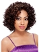 Fashionable Short Curly Brown No Bang African American Lace Wigs for Women 12 Inch