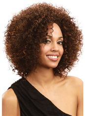 Top-rated Short Curly Brown No Bang African American Lace Wigs for
