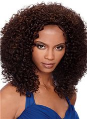Cheap Asian Medium Curly Brown No Bang African American Lace Wigs for