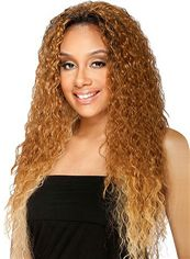 Gracefull Long Curly Blonde No Bang African American Lace Wigs for Women 24 Inch