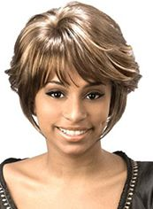Online Wigs Short Wavy Gray Side Bang African American Wigs for Women