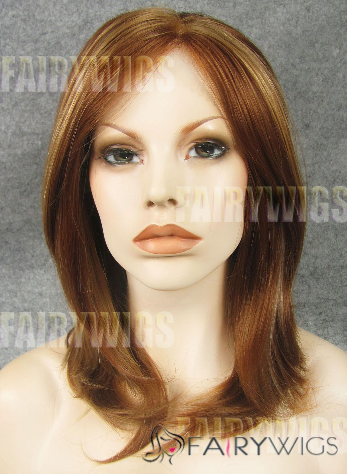 Lovely Medium Brown Female Wavy Lace Front Hair Wig 16 Inch