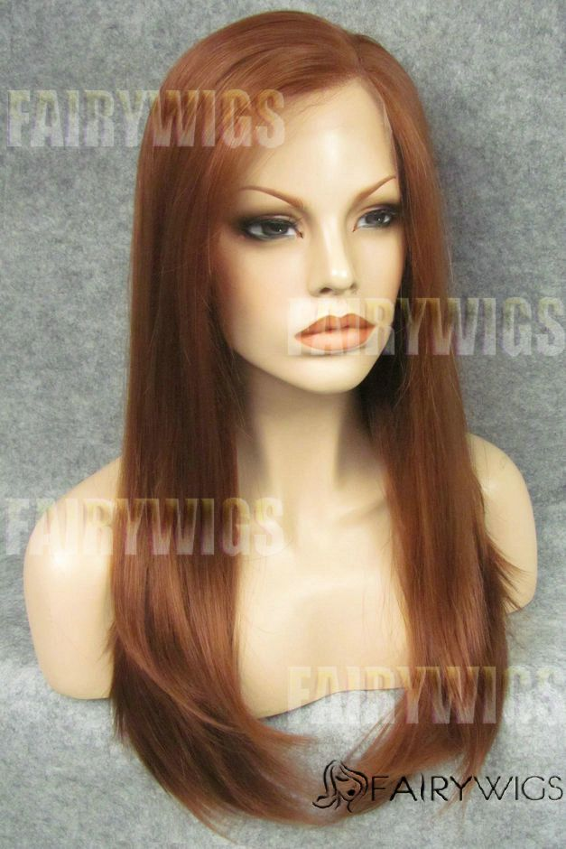 Marvelous Long Brown Female Straight Lace Front Hair Wig 22 Inch