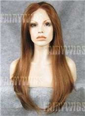 Wonderful Long Brown Female Straight Lace Front Hair Wig 22 Inch