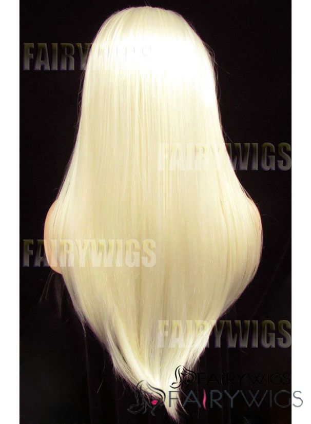 Wig Online Long Blonde Female Straight Lace Front Hair Wig 20 Inch