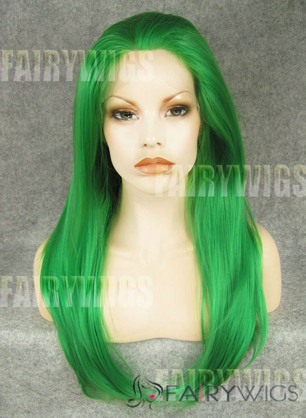 Cute Long Colored Female Straight Lace Front Hair Wig 20