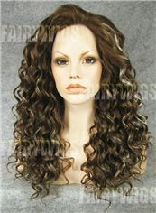 Vogue Wig Medium Brown Female Wavy Lace Front Hair Wig 16 Inch