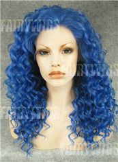 Marvelous Long Colored Female Wavy Lace Front Hair Wig 20 Inch