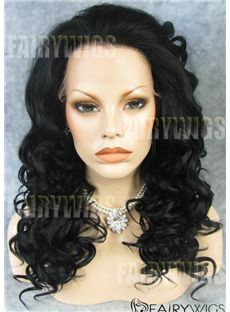 2015 Cool Long Sepia Female Wavy Lace Front Hair Wig 20 Inch