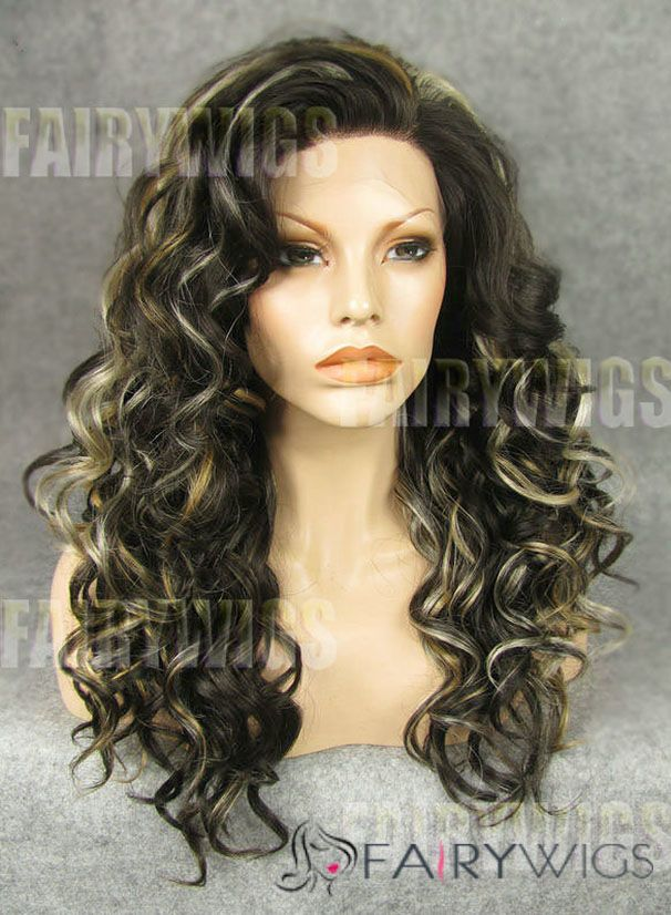 Wholesale Long Brown Female Wavy Lace Front Hair Wig