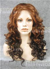 Exquisite Long Brown Female Wavy Lace Front Hair Wig 20 Inch