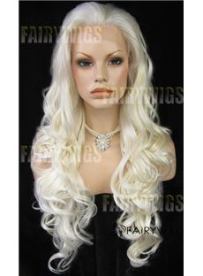 Dream Long Blonde Female Wavy Lace Front Hair Wig 26 Inch