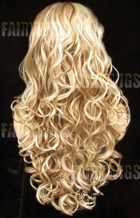 Custom Super Charming Long Blonde Female Wavy Lace Front Hair Wig 24 Inch