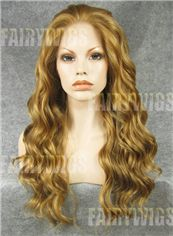 Stylish Long Brown Female Wavy Lace Front Hair Wig 20 Inch