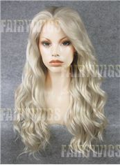 Pretty Long Blonde Female Wavy Lace Front Hair Wig 22 Inch