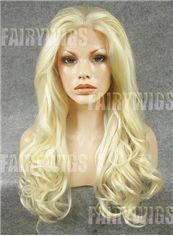 Glamorous Long Blonde Female Wavy Lace Front Hair Wig 22 Inch