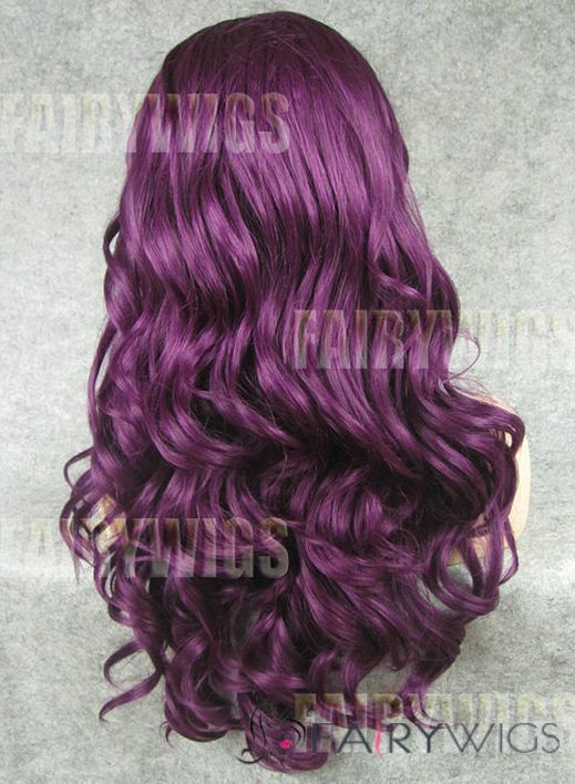 Gracefull Long Red Female Wavy Lace Front Hair Wig 22 Inch