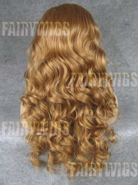 Wonderful Long Blonde Female Wavy Lace Front Hair Wig 22 Inch