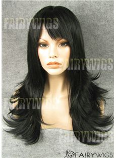 Sale Wigs Long Black Female Wavy Lace Front Hair Wig 22 Inch