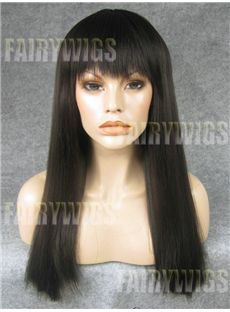 Multi-function Long Sepia Female Straight Lace Front Hair Wig 20 Inch